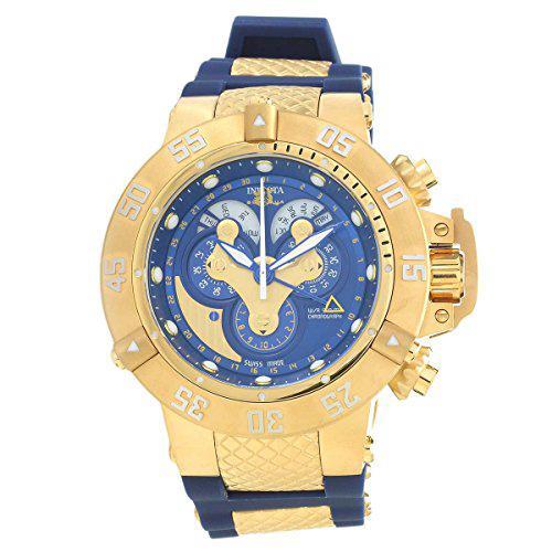 Invicta subaqua reserve mechanical chronograph blue dial