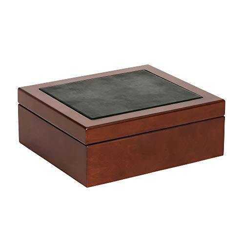 Mele & co. wyatt men's wooden dresser top valet in walnut