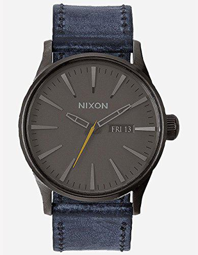 Nixon men's a1051893 sentry leather watch
