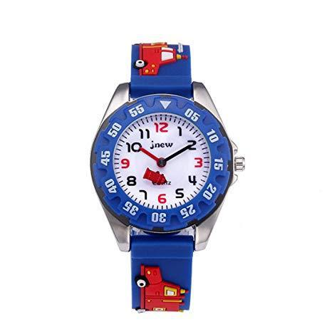Souarts children kids 3d carton silcone analog quartz wrist