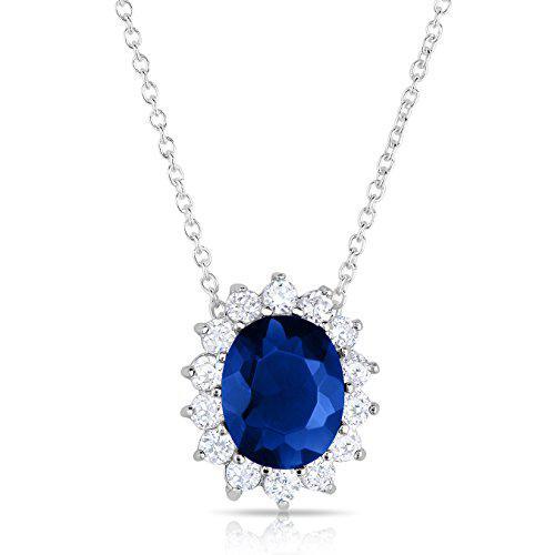 Sterling silver kashmir blue sapphire cz and cz helo jacket