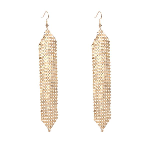 Tassels long earrings sequins geometric drop fashion jewelry