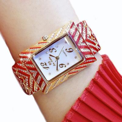 Top fashion luxury ladies quartz women's steel wrist watch
