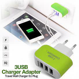 Eu power plug 5v 3.1a universal 3 port usb wall charger for
