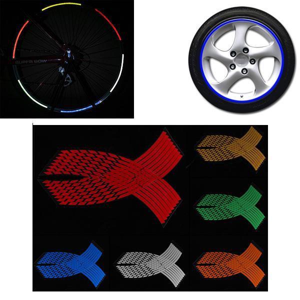 16-18 inches wheel sticker reflective rim stripe decals tape
