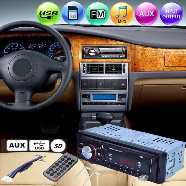 Lcd car radio stereo player mp3 usb sd aux input receiver
