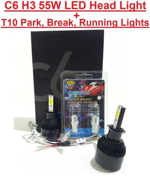 Led headlight kit special!!! c6 h4 55w 3pin 12v~24v led