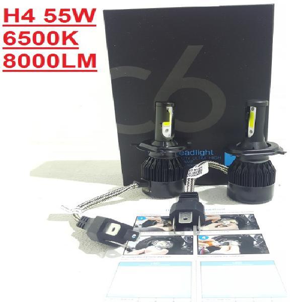 Led headlight kits - c6 h4 55w 3pin led headlight kits - h4