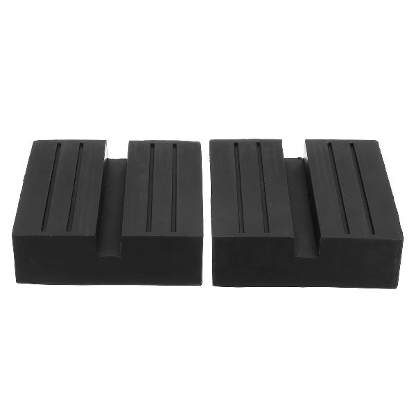 Universal slotted frame rail floor rubber jack lift pads