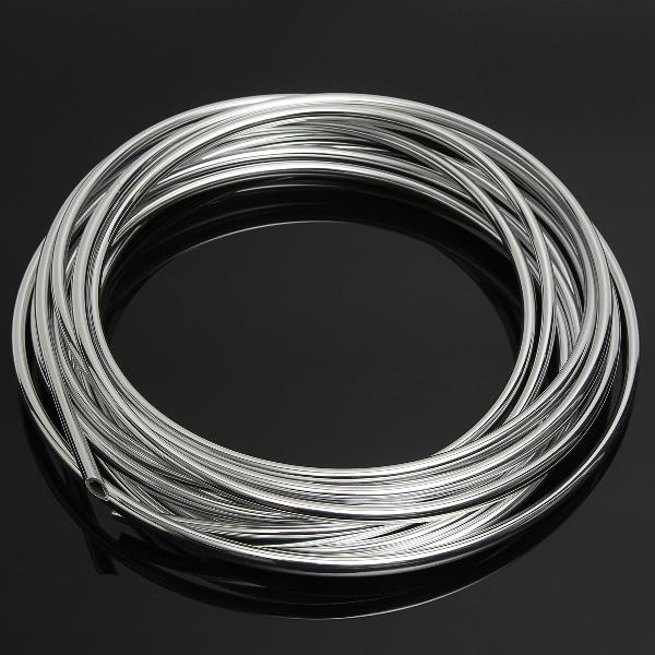 5m diy silver car door edge protector anti-collision strip