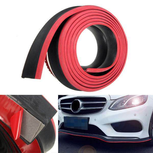 98x2inch black red car front bumper protector rubber auto