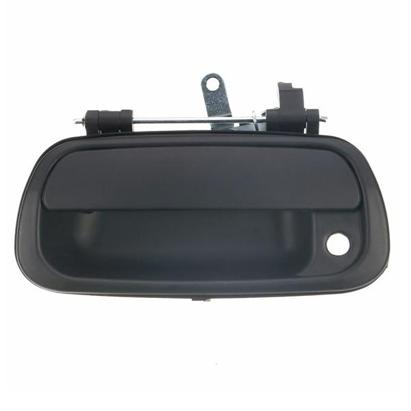 Tailgate exterior rear door handle smooth black for toyota