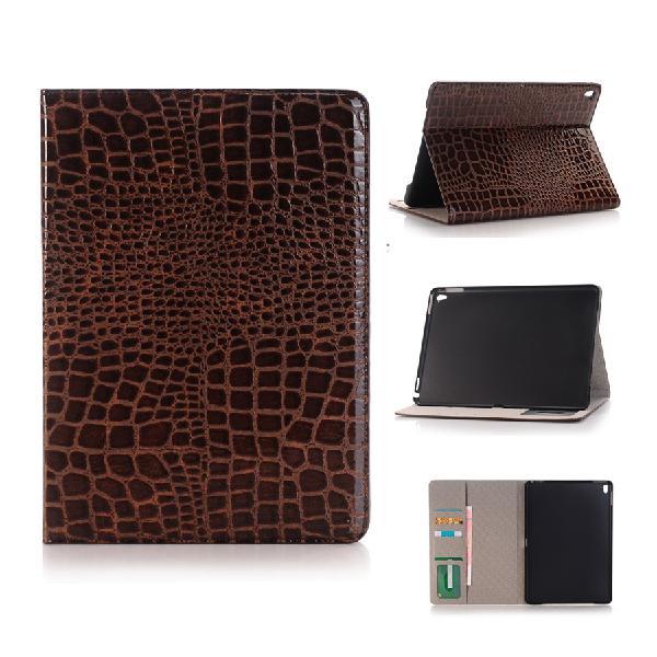 Crocodile pattern pu leather flip fold card slot wallet