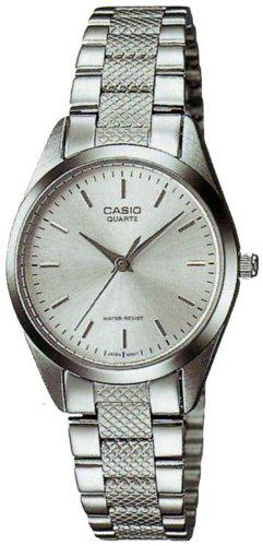 Casio #ltp1274d-7a women's metal fashion silver dial analog