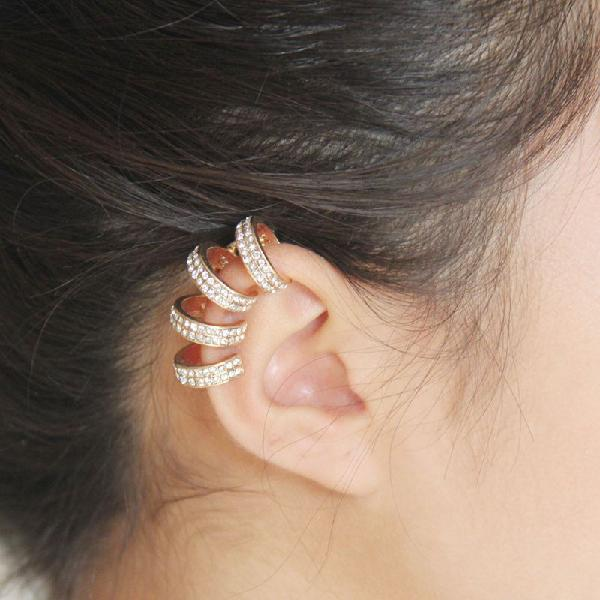 Fashion no piercing ear clip women's earring shiny diamond