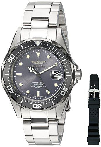 Invicta men's 12812x pro diver analog japanese quartz silver