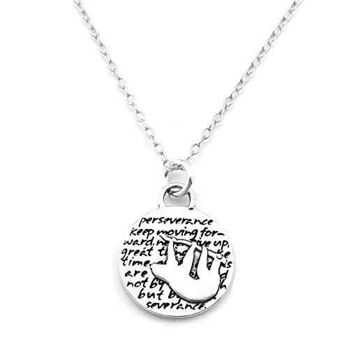 Kevin n anna sloth (perseverance quote) sterling silver