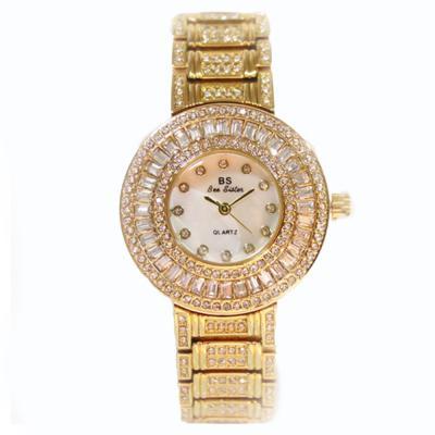 Luxury quartz women bracelet rhinestone ladies dress watches