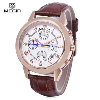 Megir 2013 30m water resistance male quartz watch date