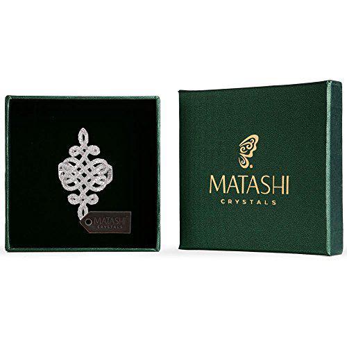Matashi rhodium plated brilliant cubic zirconia ring for