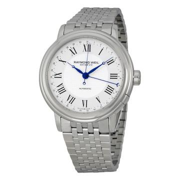 Raymond weil maestro automatic 38 hour power reserve silver