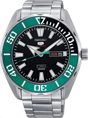 Seiko 5 sports 100m automatic turquoise bezel watch srpc53k1