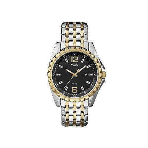 Timex t2p271 wr50m quartz stainless steel two tone black