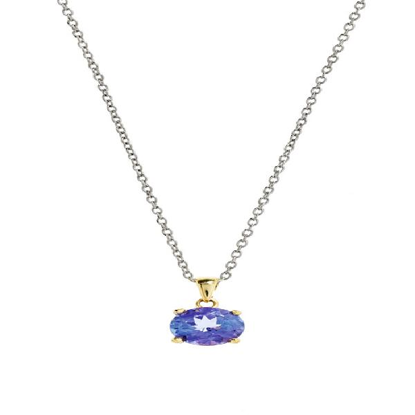 Transcendence jewels 18kt yellow gold 4 claw tanzanite