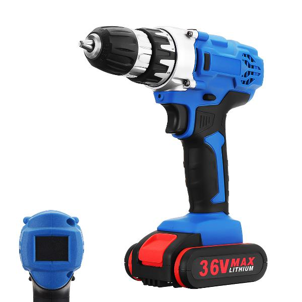 36v cordless drill double speed 18+1 torque adjustment