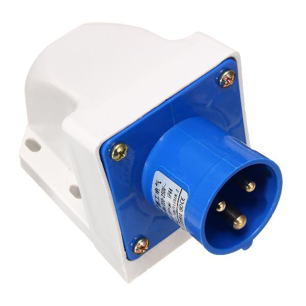 3pin blue waterproof industrial plug sockets 220v-250v 16a