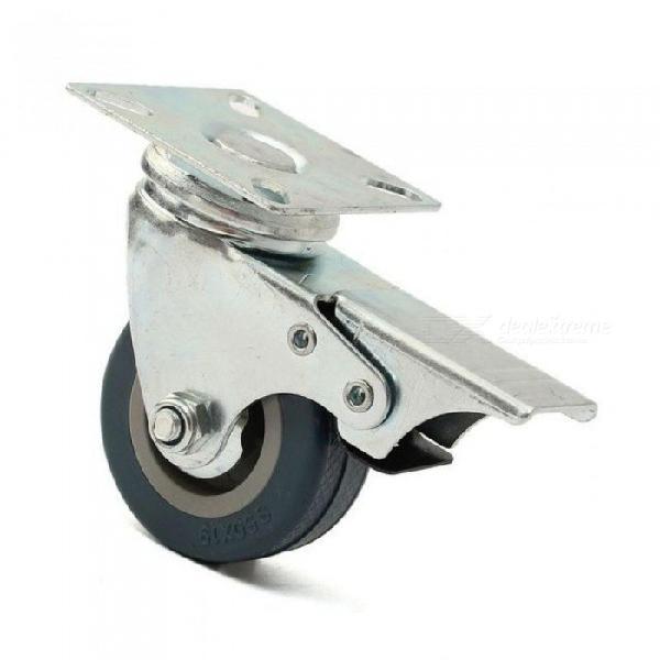 4 x heavy duty 50mm rubber swivel castor wheels trolley