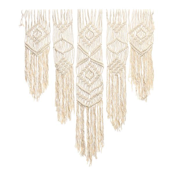 8 strands braided wire natural cotton flower pot holder