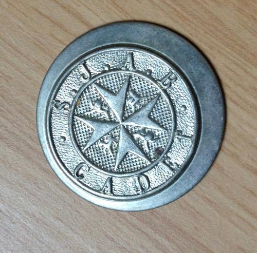 St. johns ambulance cadet badge=vintage=silver