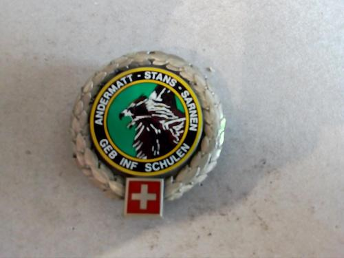 Swiss army geb infantry training school (schulen,) beret
