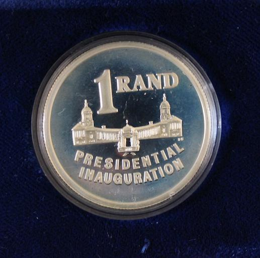 1994 presidential inauguration silver 1 rand ***low