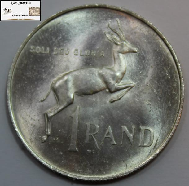 South africa 1 rand 1967 coin ef40