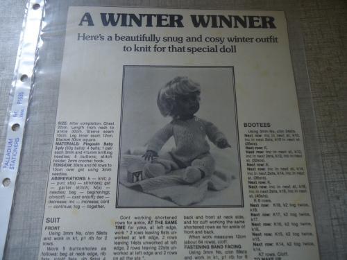 First love - winter winner - suit, bootees & blanket