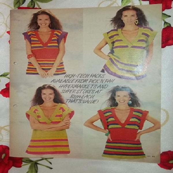 High tech vintage summer knits from nortex - woman's value