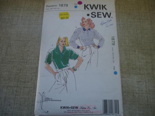 Kwik sew patterns 1879 sizes x small, small+medium+large + x