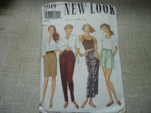 NEW LOOK PATTERNS 6049 SKIRTS, PANTS & SHORTS SIZES 8 - 18