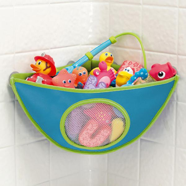 Baby bath toy storage bag waterproof suction cup triangle