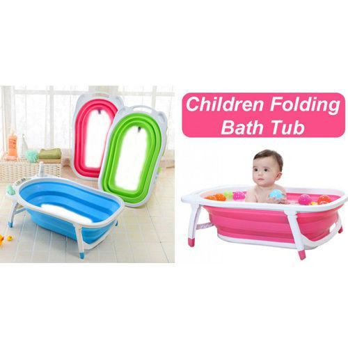 Baby folding bath tub