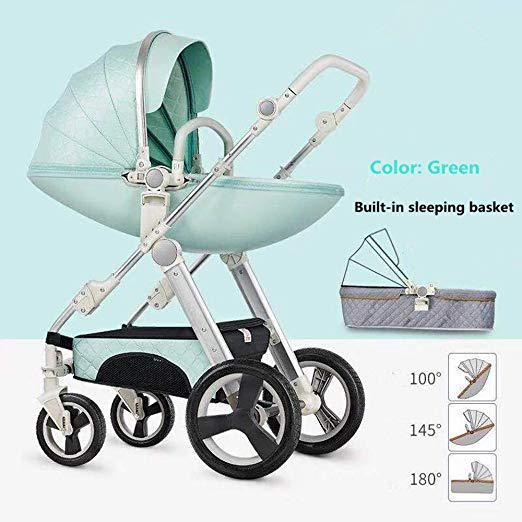 Baby stroller egg shell infant travel system- green