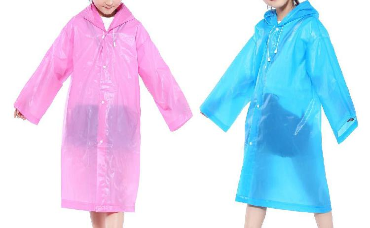 Cdoffice 2 pack children rain ponchos portable reusable