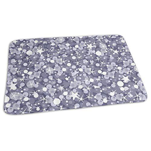 Changing pad silver sparkles baby diaper incontinence pad