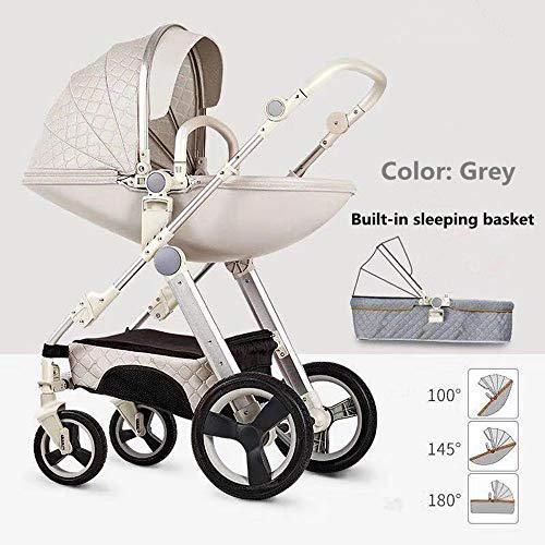 Egg shell infant baby stroller travel system {cream white }
