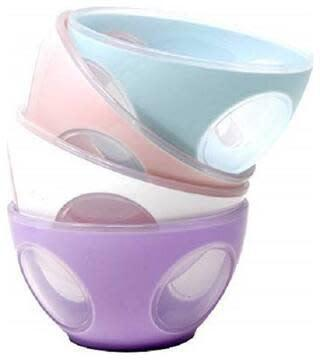 Premium quality unbreakable crystal bowls set of 4 colorful