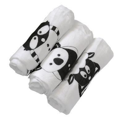 Tots raccoon bamboo muslins squares (raccoon | 3 pack)