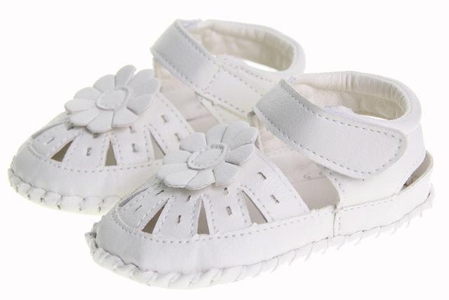 White soft leather baby shoes soft bottom toddler shoes baby