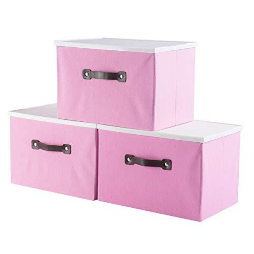 iFlower Storage Bins Foldable Storage Cubes Box with Lid